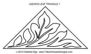 Digital Quilting Design Jason's Leaf Tri 1 by Darlene Epp.