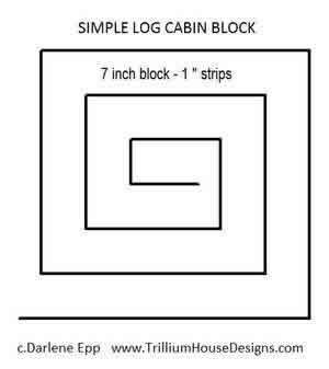 Digital Quilting Design Log Cabin Simple by Darlene Epp.