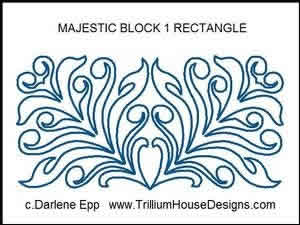 Digital Quilting Design Majestic Block 1 Rectangle by Darlene Epp.
