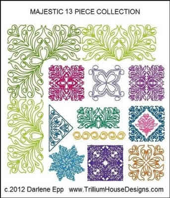 Digital Quilting Design Majestic Collection by Darlene Epp.