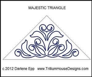 Digital Quilting Design Majestic Triangle by Darlene Epp.