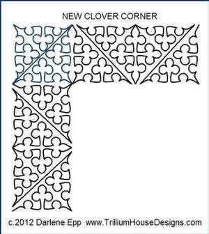 Digital Quilting Design New Clover Border and Corner by Darlene Epp.