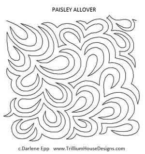 Digital Quilting Design Paisley Allover by Darlene Epp.