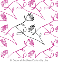 A Red, Red Rose by Deborah Lobban. This image demonstrates how this computerized pattern will stitch out once loaded on your robotic quilting system. A full page pdf is included with the design download.