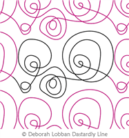 Active Swirls by Deborah Lobban. This image demonstrates how this computerized pattern will stitch out once loaded on your robotic quilting system. A full page pdf is included with the design download.