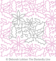 Christmas by Deborah Lobban. This image demonstrates how this computerized pattern will stitch out once loaded on your robotic quilting system. A full page pdf is included with the design download.