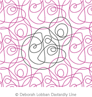 Circular Scribble by Deborah Lobban. This image demonstrates how this computerized pattern will stitch out once loaded on your robotic quilting system. A full page pdf is included with the design download.