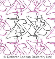 Dancers by Deborah Lobban. This image demonstrates how this computerized pattern will stitch out once loaded on your robotic quilting system. A full page pdf is included with the design download.