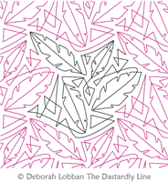 Feathers and Triangles by Deborah Lobban. This image demonstrates how this computerized pattern will stitch out once loaded on your robotic quilting system. A full page pdf is included with the design download.