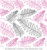 Ferns Scattered by Deborah Lobban. This image demonstrates how this computerized pattern will stitch out once loaded on your robotic quilting system. A full page pdf is included with the design download.