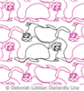 Ferrets by Deborah Lobban. This image demonstrates how this computerized pattern will stitch out once loaded on your robotic quilting system. A full page pdf is included with the design download.