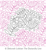 Fun Flowers by Deborah Lobban. This image demonstrates how this computerized pattern will stitch out once loaded on your robotic quilting system. A full page pdf is included with the design download.