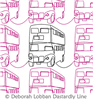 London Bus by Deborah Lobban. This image demonstrates how this computerized pattern will stitch out once loaded on your robotic quilting system. A full page pdf is included with the design download.