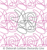 Organized Scribble by Deborah Lobban. This image demonstrates how this computerized pattern will stitch out once loaded on your robotic quilting system. A full page pdf is included with the design download.