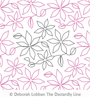 Poinsettia by Deborah Lobban. This image demonstrates how this computerized pattern will stitch out once loaded on your robotic quilting system. A full page pdf is included with the design download.