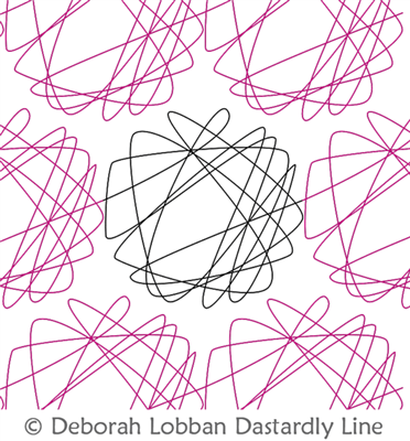 Scribble by Deborah Lobban. This image demonstrates how this computerized pattern will stitch out once loaded on your robotic quilting system. A full page pdf is included with the design download.