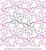 Simple Flower by Deborah Lobban. This image demonstrates how this computerized pattern will stitch out once loaded on your robotic quilting system. A full page pdf is included with the design download.