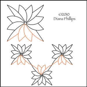 Digital Quilting Design Charm Blossom by Diana Phillips.