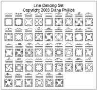 Digital Quilting Design Line Dancing Set by Diana Phillips.