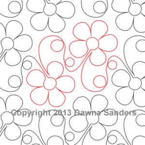 Digital Quilting Design Baby Blooms by Dawna Sanders.
