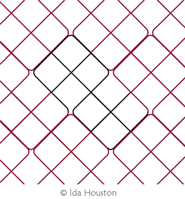 Cruz Plaid by Ida Houston. This image demonstrates how this computerized pattern will stitch out once loaded on your robotic quilting system. A full page pdf is included with the design download.