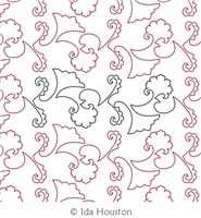 Dizzy Izzy Panto by Ida Houston. This image demonstrates how this computerized pattern will stitch out once loaded on your robotic quilting system. A full page pdf is included with the design download.