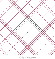 Plaid Simple by Ida Houston. This image demonstrates how this computerized pattern will stitch out once loaded on your robotic quilting system. A full page pdf is included with the design download.