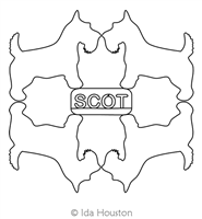 Scottie Block 2 by Ida Houston. This image demonstrates how this computerized pattern will stitch out once loaded on your robotic quilting system. A full page pdf is included with the design download.