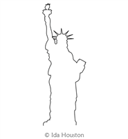 Statue of LIberty by Ida Houston. This image demonstrates how this computerized pattern will stitch out once loaded on your robotic quilting system. A full page pdf is included with the design download.