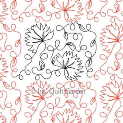 Digital Quilting Design Cardinal Climbers E2E by Iris QuiltGarden.