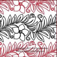 Digital Quilting Design Mandevilla Panto Border by Iris QuiltGarden.