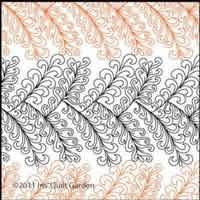 Digital Quilting Design Wacky Feather Panto by Iris QuiltGarden.