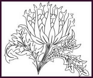 Digital Quilting Design Artichoke by JoAnn Hoffman.