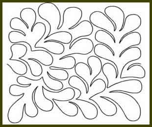 Digital Quilting Design Feather Meander by JoAnn Hoffman.