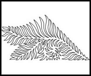 Digital Quilting Design Fern Swag by JoAnn Hoffman.