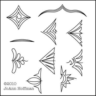 Digital Quilting Design JoAnn's P2P Set 1 by JoAnn Hoffman.