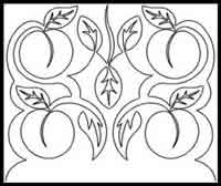 Digital Quilting Design Peach Pantograph by JoAnn Hoffman.