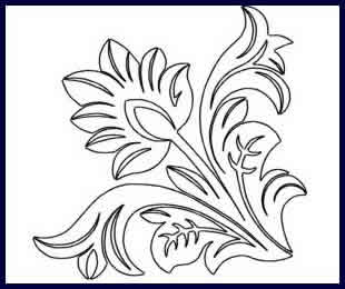 Tooled Leather Corner Joann Hoffman Digitized Quilting Designs
