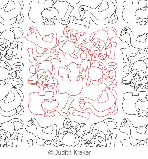 Dog Hippo Rabbit Goose Panto | Digital Quilting Designs : digital quilting - Adamdwight.com