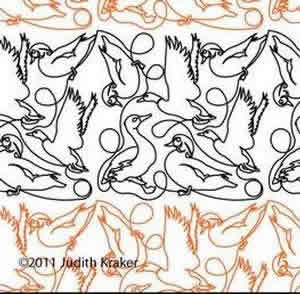 Digital Quilting Design Ducks Panto by Judith Kraker.