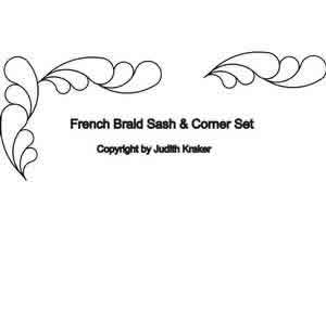 Digital Quilting Design French Braid Set 1 Sashing and Corner by Judith Kraker.