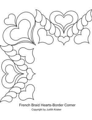 Digital Quilting Design French Braid Set 2 Border Corner by Judith Kraker.