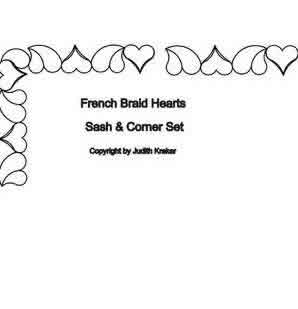 Digital Quilting Design French Braid Set 2 Sashing and Corner by Judith Kraker.