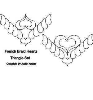 Digital Quilting Design French Braid Set 2 Triangles by Judith Kraker.