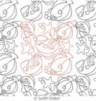 Digital Quilting Design Funky Fish Panto or Border by Judith Kraker.