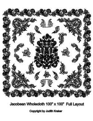 Digital Quilting Design Judith's Jacobean Wholecloth by Judith Kraker.