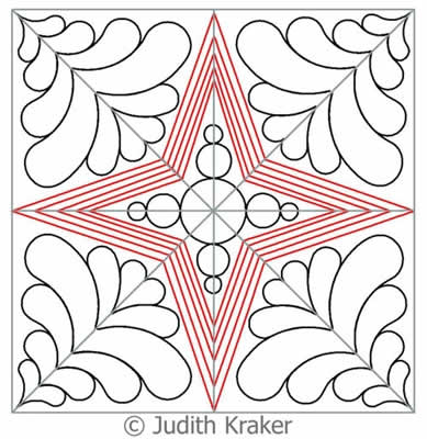 Digital Quilting Design Night and Day Block Set by Judith Kraker.