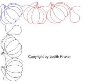 Pumpkin Gourd Border And Corner Digital Quilting Designs