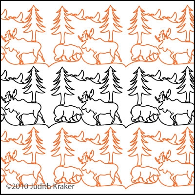 Moose Bear Geese Panto/Border | Digital Quilting Designs : digital quilting - Adamdwight.com