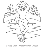 Figure Skating Winter Games by Judy Lyon. This image demonstrates how this computerized pattern will stitch out once loaded on your robotic quilting system. A full page pdf is included with the design download.